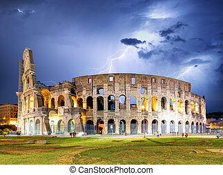 Rome - Colosseum with storm