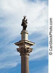 Rome. Column before Basilica of Santa Maria maggiore