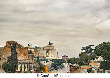 Rome Downtown Cityscape, Italy