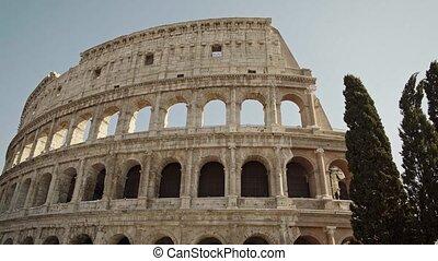 ROME - FEB 20: Famous tourist attraction Colosseum in...