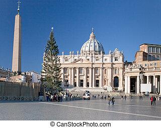 rome, italië, st.peter, kathedraal, aanzicht