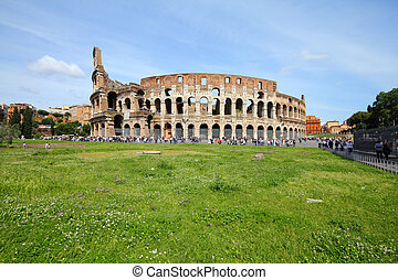 Colosseum - Rome, Italy. Famous Colosseum, Flavian...