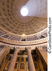 ROME, ITALY - JUNE 08: Pantheon in Rome, Italy at June 08, ...
