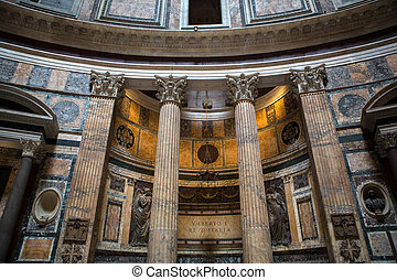 Pantheon in Rome, Italy . - ROME, ITALY - JUNE 15, 2015: ...