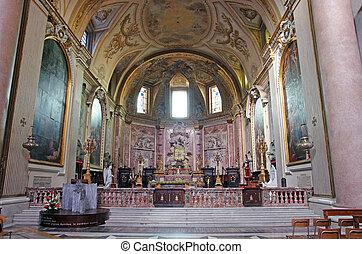 Scene inside church