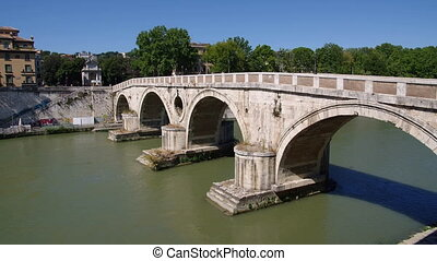 ROME, ITALY Ponte Sisto time lapse, this is the only Roman...