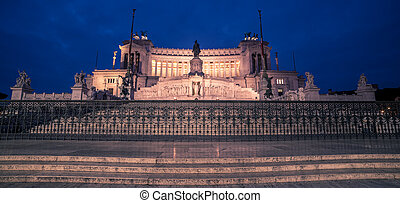 Rome, Italy: Vittoriano, Victor Emmanuel II Monument at night