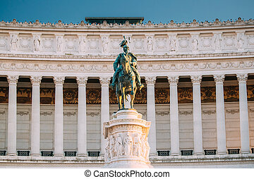 Rome, Italy. Vittorio Emanuele II Monument Also Known Altar Of The Fatherland Built In Honor Of Victor Emmanuel II