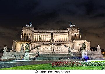 ROME - NOVEMBER 6: The Monumento Nazionale a Vittorio ...