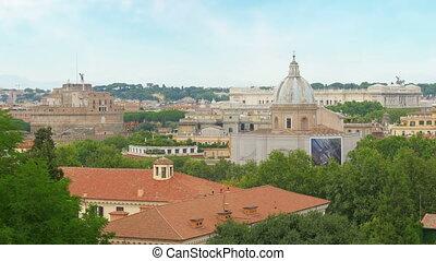 """rome panorama view, italy, 4k"""