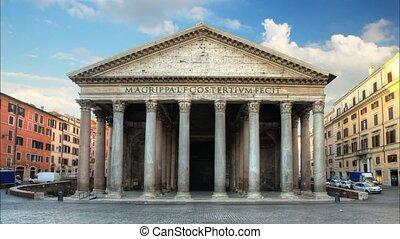 Rome - pantheon, time lapse
