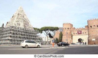 rome, pyramide, cestius