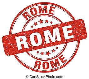 Rome red grunge round vintage rubber stamp