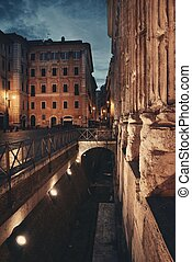 rome, rue, vue