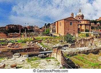 Rome - Ruins Foro Romano - Ruins Foro Romano, Rome, Italy