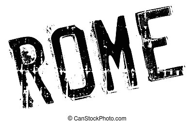 Rome stamp rubber grunge