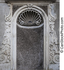 Rome statue Niche - An empty niche that would normally hold...