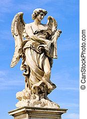 Rome statue of angel 01
