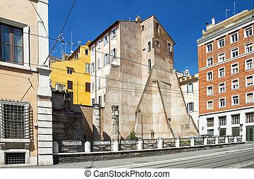Rome Street on a sunny day, Italy