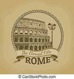 Rome ( The Eternal City) poster - Landscape of Rome ( The...