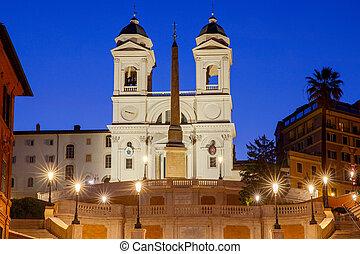 Rome. The Square of Spain and Trinita dei Monti. - Square of...
