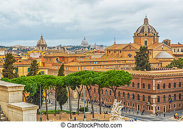 Rome view from Altar of the Fatherland, Italy