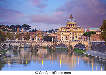 Rome. - View of St. Peter's cathedral in Rome, Italy.