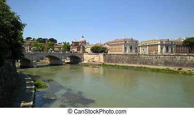 Rome View - Rome view on Tiber river and Vittorio Emanuele...
