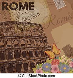 Rome vintage poster