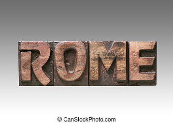 Rome vintage type