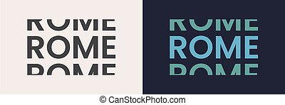 Rome word text in modern minimal style.