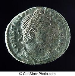 romersk, mynt