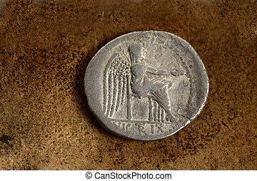 romersk, silver, mynt, 89, före kristus