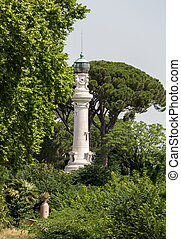 Rome's lighthouse on Janiculum Hill. Rome, Italy