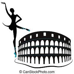 rome's, sporthalle, colosseum, -, histori