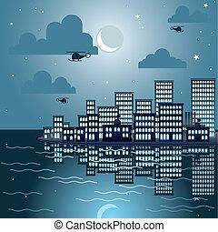Rommbleton at night