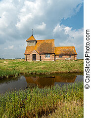 Romney Marsh - An English countryside church at Romney Marsh...