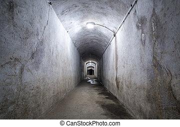 romos, folyosó, noha, lamps.