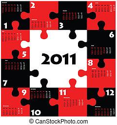 rompecabezas, 2011, calendario