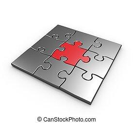 rompecabezas, concepto, éxito, empresa / negocio