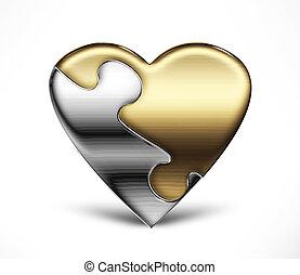 rompecabezas, corazón