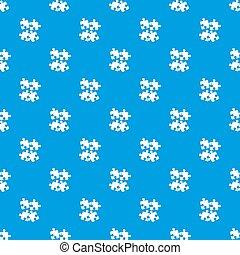 rompecabezas, patrón, seamless, azul