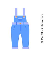 Romper Suit of Jeans Poster Vector Illustration - Romper...