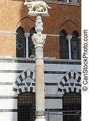 Romulus and Remus Column Siena - the Romulus and Remus...