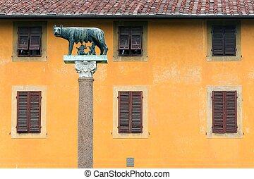 Romulus and Remus statue in Pisa - Romulus and Remus statue ...