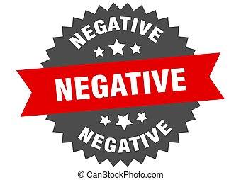 rond, bande, autocollant, label., signe., circulaire, négatif