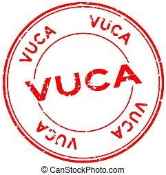 rond, cachet, grunge, timbre, (abbreviation, rouges, vuca, mot, fond, incertitude, volatility, ambiguity), caoutchouc, complexité, blanc