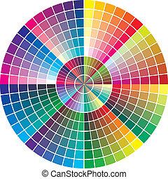 rond, diagramme, vecteur, couleur