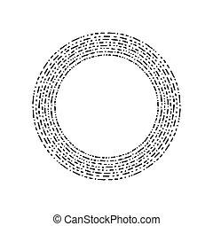 rond, main, cadre, texture, dessiné