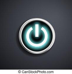 rond, puissance, button.